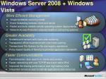 windows server 2008 windows vista