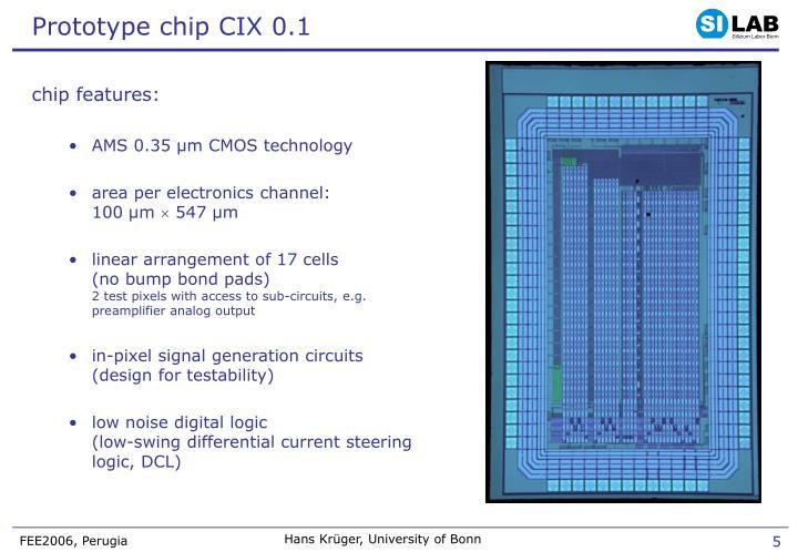 Prototype chip CIX 0.1