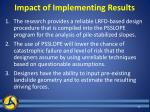 impact of implementing results