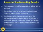 impact of implementing results1