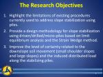 the research objectives