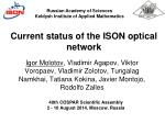 current status of the ison optical network
