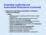 evaluating leadership and instructional performance continued2