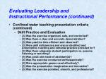 evaluating leadership and instructional performance continued5