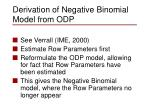 derivation of negative binomial model from odp