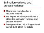 est imation variance and process variance1