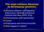 the most common diseases in developing countries