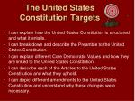 the united states constitution targets