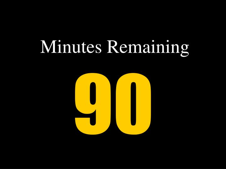 minutes remaining n.