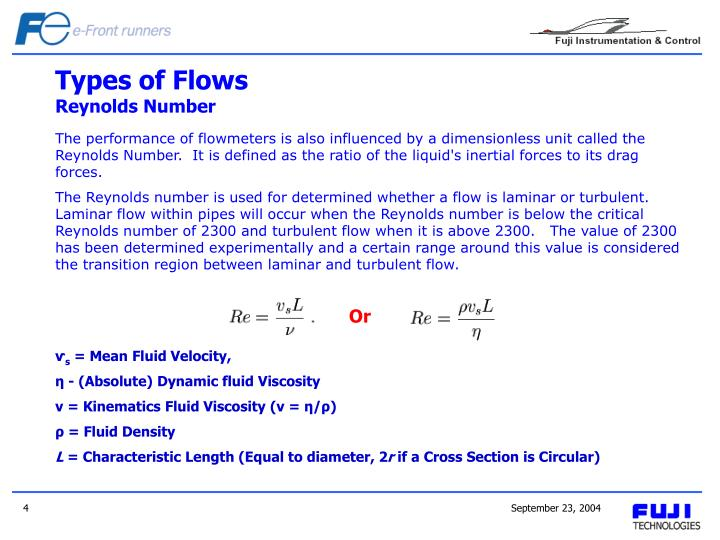 Types of Flows