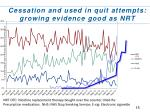 cessation and used in quit attempts growing evidence good as nrt