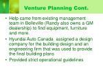 venture planning cont