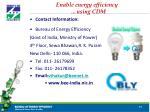 enable energy efficiency using cdm
