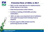 potential role of sdas in bly