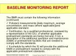 baseline monitoring report3