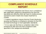 compliance schedule report
