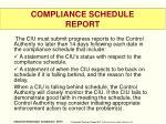 compliance schedule report2