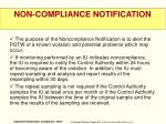 non compliance notification