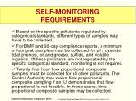 self monitoring requirements1