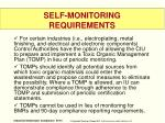 self monitoring requirements2