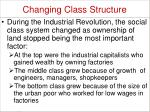 changing class structure1
