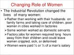 changing role of women1