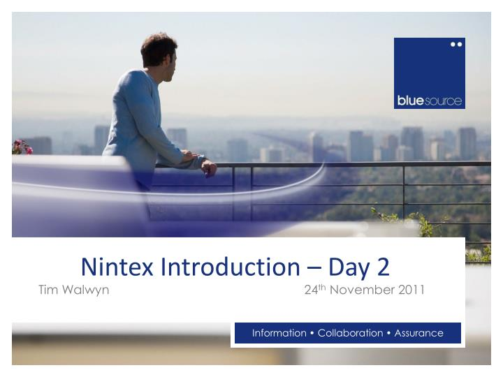 nintex introduction day 2 n.