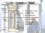the corinthian order