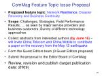 commag feature topic issue proposal