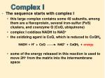 complex i
