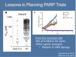 lessons in planning parp trials