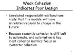 weak cohesion indicates poor design