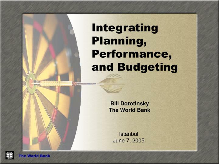 integrating planning performance and budgeting n.