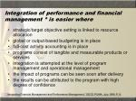 integration of performance and financial management is easier where