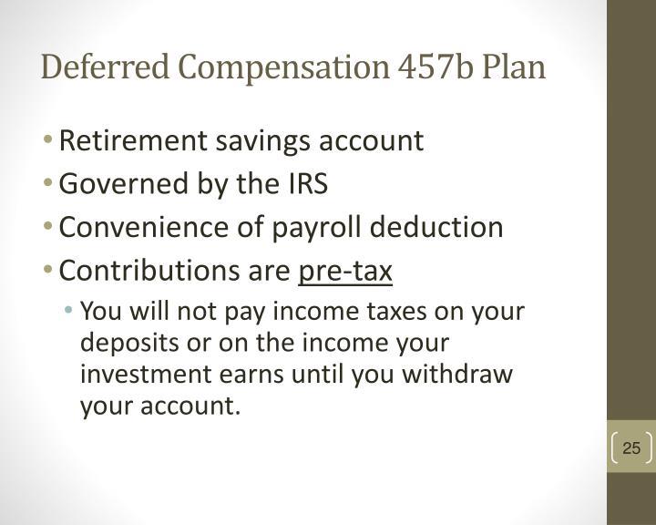 Deferred Compensation 457b Plan
