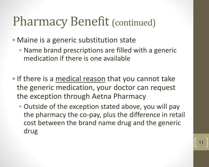 Pharmacy Benefit