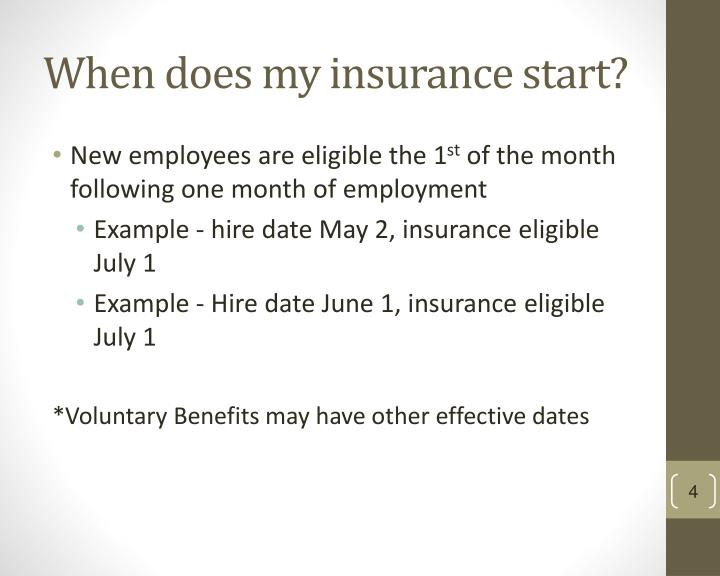 When does my insurance start?