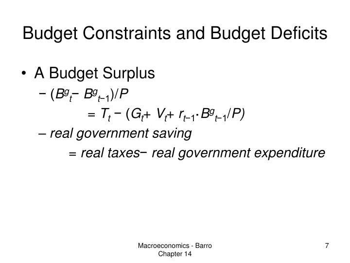 Budget Constraints and Budget Deficits