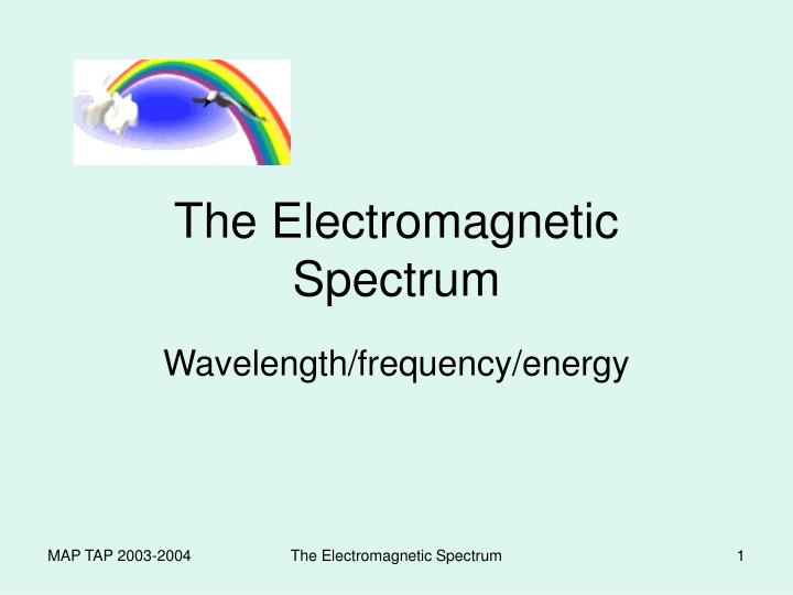 the electromagnetic spectrum n.