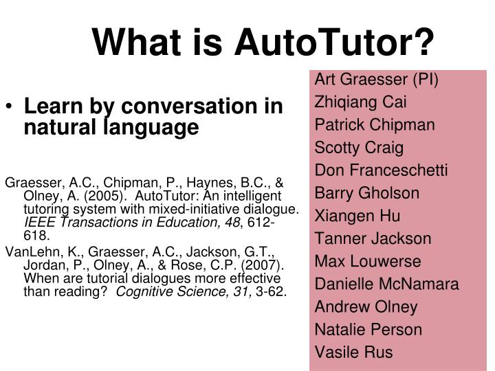 What is autotutor
