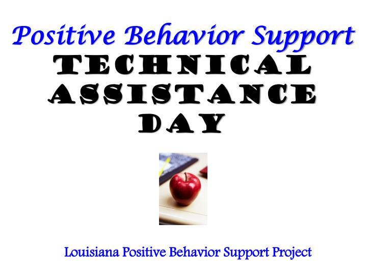 positive behavior support technical assistance day n.