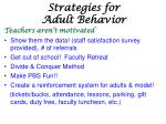 strategies for adult behavior