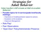 strategies for adult behavior1