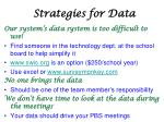 strategies for data