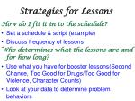 strategies for lessons