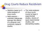 drug courts reduce recidivism1