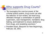 who supports drug courts2