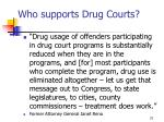 who supports drug courts5