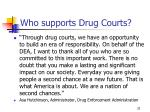 who supports drug courts7
