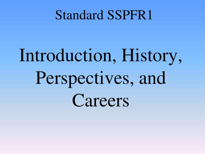introduction history perspectives and careers n.